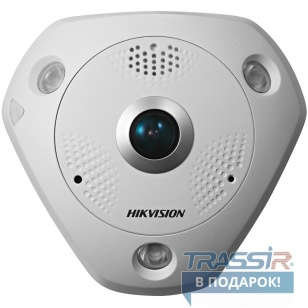 Hikvision DS-2CD6362F-IS 6Мп fisheye IP-камера (от -30°C до +60°C ), фикс. объектив 1.19мм @F2.8 - фото 1